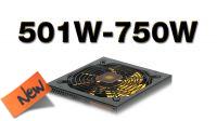 Fontes de alimentação 501W a 750W