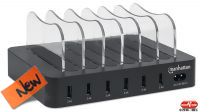 Estación de carga 6 x USB 2.4amp  negro