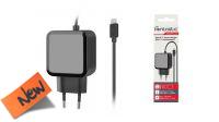 Carregador smartphone 110-240V USB-C 2.4A preto