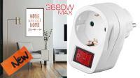 Adaptador schuko 1 x M - 1 x F c/interruptor branca