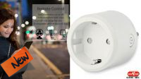Tomada Wi-Fi Smart com controlo vocal Alexa para Android e IOS branca