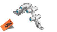 Adaptador em bloco F F/F x4 para ligação à terra