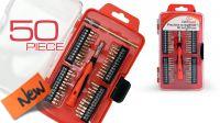 Kit de ferramentas chaves + ponteiras precisão 50 peças