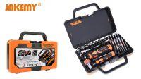 Kit de ferramentas com chave roquete inclinável e conjunto de pontas 31 peças