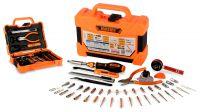 Kit de ferramentas chave magnética roquete com pontas para manutenções 47 peças