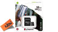 Kingston Micro SDHC 16GB Class 10  100mb/s c/adaptador