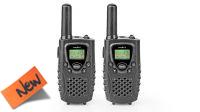 Walkie-Talkie rádio PMR 8Km 8 canais monitor LCD preto