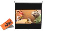 """Tela 112"""" para projecção vídeo area util 200x200cm com suporte parede/tecto"""