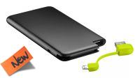 Powerbank USB bateria 4000mAh USB micro B slim preto