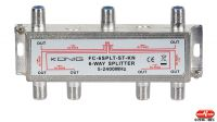 Repartidor 6 saídas de sinal de satélite em zinco 5-2400Mhz