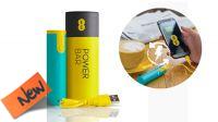 Powerbank USB bateria 2600mAh verde e amarelo