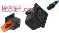 Conector IEC Plug C19 de painel 16A Fêmea preto