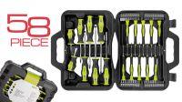 Mala ferramenta  58 pcs. chaves precisão Torx  Fenda  Phillips+bits
