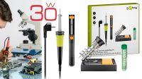 Kit de Ferro de soldar 220V/30W com suporte, aspirador de soldas e tubo de solda