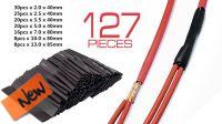 Conjunto de tubos termo-retrátil vários diâmetros (127)