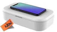 Esterilizador Desinfectante Ultravioleta Smartphone carga inalámbrica Blanco