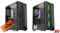 Caja ATX TRIO RGB  USB 3.0 x 1, USB 2.0 x 2 negra
